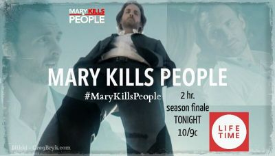 It's that time already US fans!!!  The 2hr finale of S1 Mary Kills People airs tonight at 10/9c on Lifetime.  Tune in, live tweet, set your dvrs if you need to....just DON'T MISS IT !!!!
