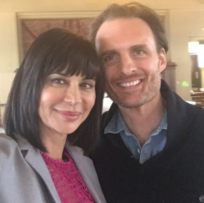 BTS photo of Greg with Catherine Bell   (pic credit CP Productions)