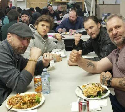 Cast & crew! - Demspey, Greg, Christian Bako & Claude Dubois Photo credit: striving_eagle